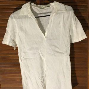 Women's White Linen Shirt - Banana Republic
